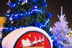 Rectángulo de carta de la Navidad a Santa Fotos de archivo