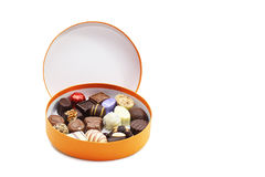 Rectángulo de chocolates imagenes de archivo