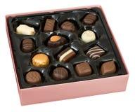 Rectángulo de chocolates Fotos de archivo libres de regalías