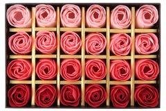 Rectángulo de chocolates Foto de archivo
