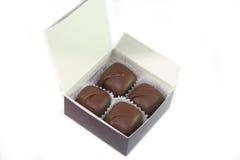 Rectángulo de chocolates Imagen de archivo