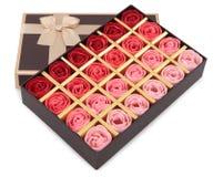 Rectángulo de chocolates Foto de archivo libre de regalías