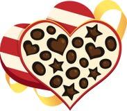 Rectángulo de chocolates stock de ilustración