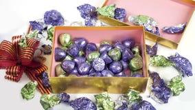 Rectángulo de chocolates metrajes