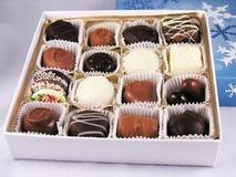 Rectángulo de chocolates clasificados Fotos de archivo libres de regalías