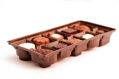 Rectángulo de chocolates2 clasificado Foto de archivo libre de regalías