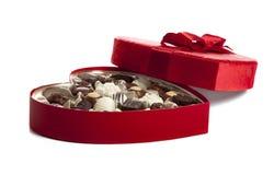 Rectángulo de Chocoloate de la tarjeta del día de San Valentín Imágenes de archivo libres de regalías