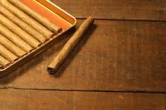 Rectángulo de cigarros Foto de archivo libre de regalías