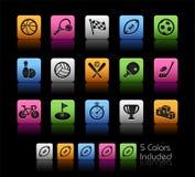 Rectángulo de color de // de los iconos de los deportes libre illustration