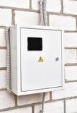 Rectángulo de control de la electricidad Foto de archivo libre de regalías