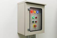 Rectángulo de control eléctrico Imágenes de archivo libres de regalías