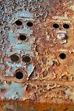 Rectángulo de control oxidado Fotos de archivo libres de regalías