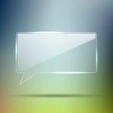 Rectángulo de cristal transparente de la charla Foto de archivo