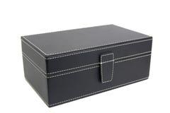 Rectángulo de cuero negro Imagen de archivo libre de regalías