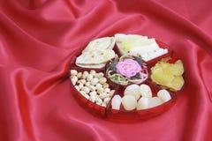 Rectángulo de delicadezas chinas del Año Nuevo imagen de archivo libre de regalías