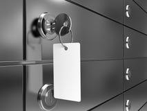 Rectángulo de depósito con clave Imágenes de archivo libres de regalías