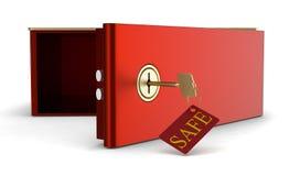 Rectángulo de depósito seguro Foto de archivo libre de regalías