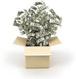 Rectángulo de dinero Imágenes de archivo libres de regalías