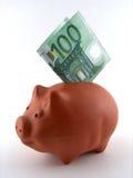 Rectángulo de dinero del cerdo foto de archivo libre de regalías
