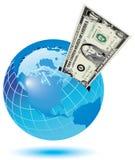 Rectángulo de dinero global ilustración del vector