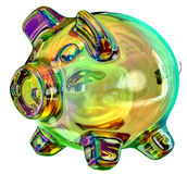 Rectángulo de dinero - hucha Imagen de archivo