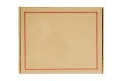 Rectángulo de empaquetado reciclado del papel con el marco rojo de la guarnición Imagen de archivo libre de regalías