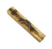 Rectángulo de inglete viejo para la carpintería en la posición plegable Foto de archivo libre de regalías