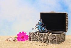 Rectángulo de joyería Fotos de archivo libres de regalías