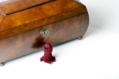 Rectángulo de joyería de madera imagen de archivo libre de regalías