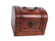 Rectángulo de joyería de madera viejo Imagen de archivo libre de regalías