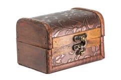 Rectángulo de joyería de madera viejo Foto de archivo
