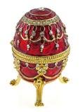 Rectángulo de joyería del huevo de Faberge Fotografía de archivo
