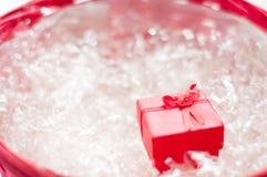 Rectángulo de joyería rojo Fotografía de archivo libre de regalías