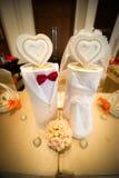 Rectángulo de la boda del novio y de la novia Imagen de archivo libre de regalías