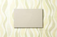 Rectángulo de la cartulina en el papel pintado 04 Imagen de archivo libre de regalías
