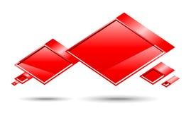 Rectángulo de la charla. Rojo Ilustración del Vector