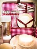 Rectángulo de la comida campestre Imagen de archivo libre de regalías