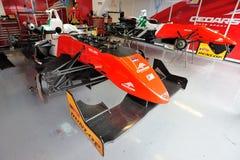 Rectángulo de la fórmula 3 en pista de raza de Monza Imágenes de archivo libres de regalías