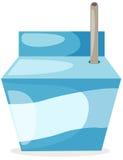 Rectángulo de la leche Fotos de archivo libres de regalías