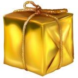 Rectángulo de la Navidad del oro ilustración del vector