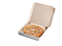 Rectángulo de la pizza Imagen de archivo libre de regalías