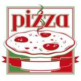 Rectángulo de la pizza stock de ilustración