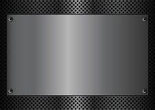 Rectángulo de la placa de metal Imagen de archivo