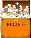 Rectángulo de la receta Imagen de archivo
