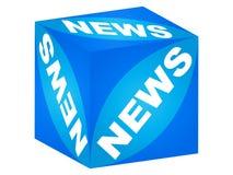 Rectángulo de las noticias Stock de ilustración