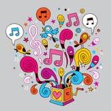 Rectángulo de música Fotos de archivo
