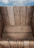Rectángulo de madera aislado Fotos de archivo