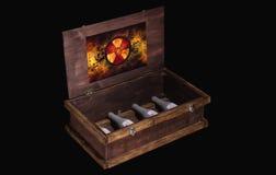 Rectángulo de madera aislado Fotografía de archivo libre de regalías