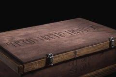 Rectángulo de madera aislado Foto de archivo libre de regalías