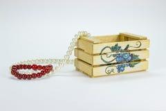 Rectángulo de madera aislado decoraciones Fotografía de archivo libre de regalías